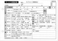 サービス実施記録/介護記録サンプル(3)