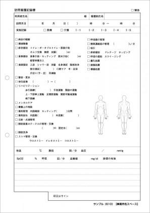 訪問看護記録サンプル(610)
