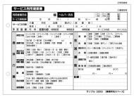 サービス利用確認書/介護記録サンプル(205)