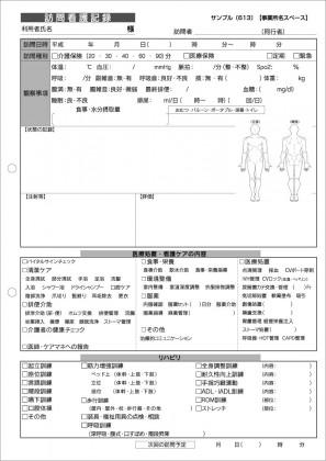 訪問看護記録サンプル(613)